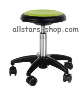 Allstars Rollhocker Star hellgrün Drehstuhl für Kinder ohne Lehne Medium