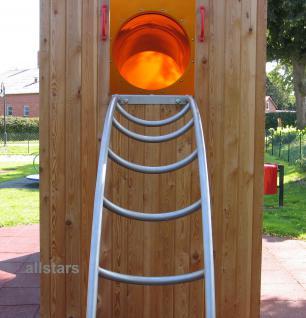 Beckmann Bogenleiter Podesthöhe 2 m Breite 56 cm Edelstahl Spielplatz - Vorschau 3