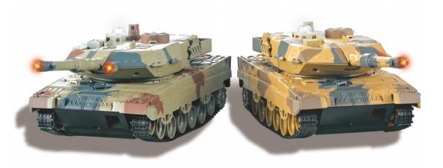 Jamara Panzer Battle Set Leopard II 1:43 Militärfahrzeug LED Funk RC-Auto