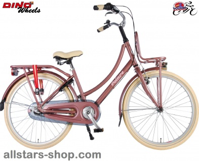 Allstars Dino Bikes Wheels Kinderfahrrad Mädchenfahrrad 24 Zoll 3-Gänge Excellent altrosa