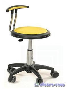 Allstars Stuhl Kinderstuhl Rollhocker Drehstuhl mit Lehne gelb Rollstuhl Hocker