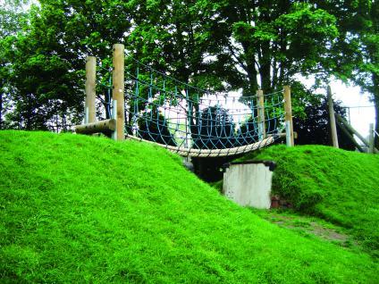 Huck Dschungelbrücke Netzbrücke Herkulesseil Kletterbrücke Spielplatz - Vorschau 2