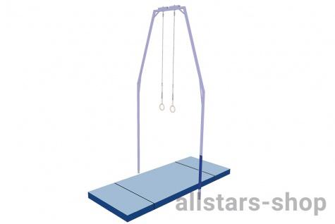 Bänfer Mattensatz für Ringegerüst himmelblau/blau 10 m² Nadelfilz Matten