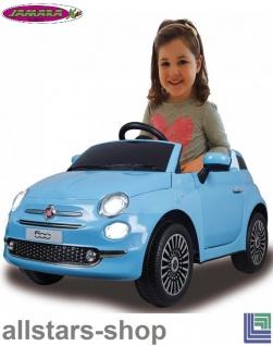 Jamara Kinderauto Elektroauto Ride On Car Fiat 500 Selbstfahr-Kinderauto