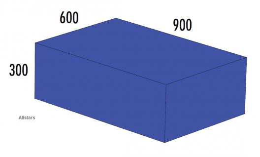 Bänfer Softbaustein Quader Blau 900 x 600 x 300 mm Maxi Schaumstoff-Baustein