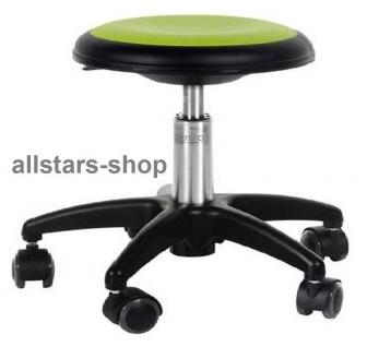 Allstars Rollhocker Star hellgrün Drehstuhl für Kinder ohne Lehne small