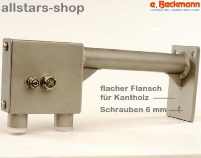 Beckmann Sandaufzug V2A mit seitlichem Arm, Flansch für Kantholz Spielplatz-Aufzug