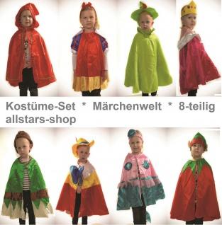 Allstars Kostüme-Set 8 Kinder-Kostüm Märchenwelt Rotkäppchen Schneewittchen
