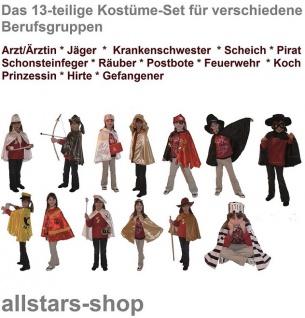 Kostüme-Set Kinder-Kostüm 13 Berufskostüme Faschingskostüm Allstars