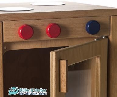 Allstars Kinderküche Spielküche 1 Herd mit Backofen plus Kühlschrank H = 45, 5 cm Buchenholz - Vorschau 2