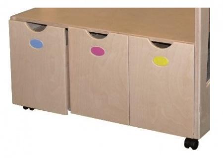 Schrank Verkleidungsregal Faschingsregal Spiegel Kindergartenschrank - Vorschau 3