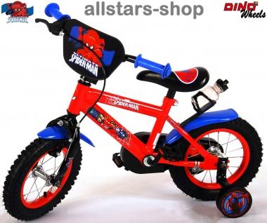 """Allstars Dino Wheels Bikes Kinderfahrrad 16 """" Spiderman Jungenfahrrad mit Rücktritt rot"""