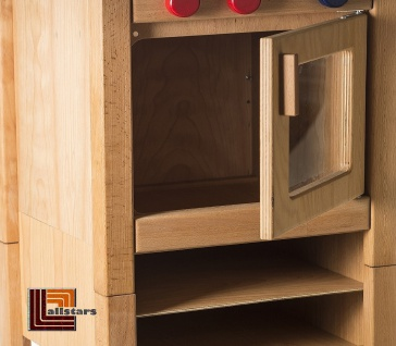 Allstars Kinderküche Spielküche 1 Herd mit Backofen H = 65, 5 cm aus Buchenholz - Vorschau 2