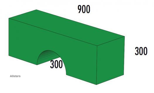 Bänfer Softbaustein Brücke Grün 900 x 300 x 300 Maxi Schaumstoff-Baustein