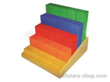 Juniortreppe 25 Teile Holzbausteine Allstars