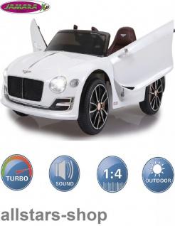 Jamara Kinderauto Elektroauto Ride On Car Bentley EXP12 weiß Cabriolet Kids - Vorschau 2