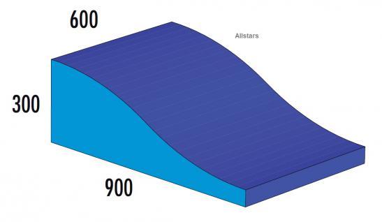 Bänfer Softbaustein Wellenkeil Blau 900 x 300/60 Maxi Schaumstoff Großbaustein