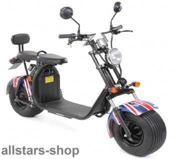 Actionbikes Elektro-Roller Easy Rider Harley Two Sitze Elektro-Scooter Chopper STVZO British-Flag