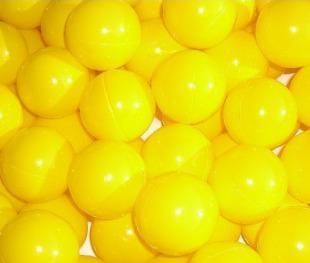 Bänfer Bällebad Therapiebälle Bälle 500 Stück 60 mm Therapie-Bälle im Sack gelb