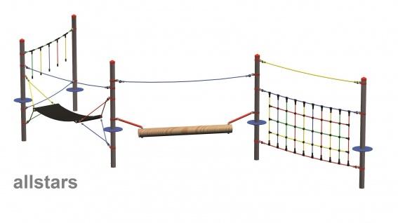 Huck Seil Parcours Modul Hängematte Spielgeräte Seiltechnik f.Robinie - Vorschau 3