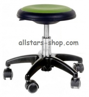 Allstars Rollhocker Star grün Drehstuhl für Kinder ohne Lehne Medium