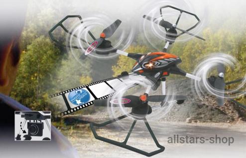 Jamara Oberon Altitude Drohne HD Kompass Turbo Quadrocopter Schw-Rot