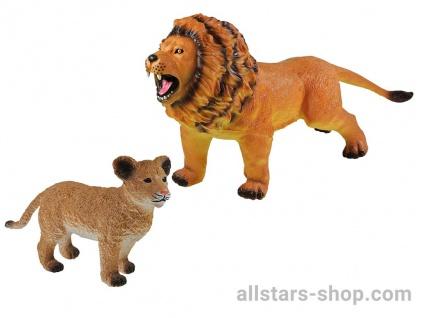 Allstars Spielfiguren 2 Löwen Zootiere