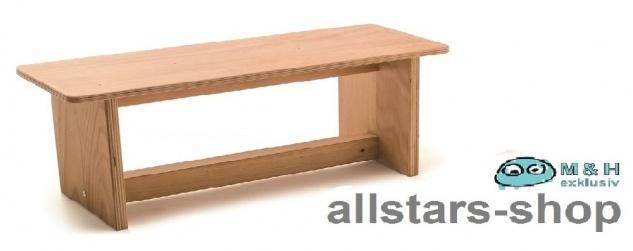 Allstars Sitzbank Bank klein Buche Massivholz geölt und Buche-Multiplex Kinderbank
