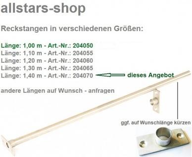 Reck Reckstange Reckanlage Edelstahlrohr mit 2 Befestigungsflanschen L = 1, 4 m Beckmann