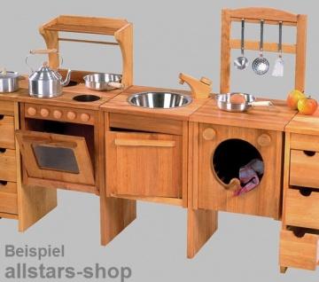 Schöllner Küchenregal + Besteckhalterung für Kinderküche Spielküche Star Maxi aus Holz für Kindergarten