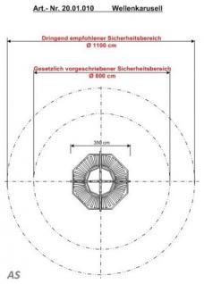Hally-Gally Karussell Wellenkarussell Mini Drehgestell Schaukelkarussell Schaukel - Vorschau 5