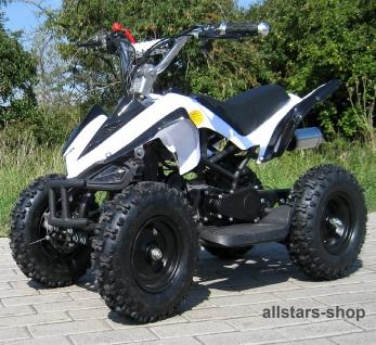 Actionbikes Poketquad Miniquad Racer 49 cc Motor-2-takt-Quad weiß-schwarz Miweba