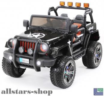 Actionbikes Kinderauto Selbstfahrer Elektro-Auto Wrangler Offroad Allrad SUV Zweisitzer Kinder-Elektroauto schwarz lackiert