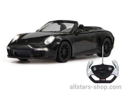 Porsche 911 Carrera S 1:12 schwarz mit 27MHz Fernbedienung von Jamara
