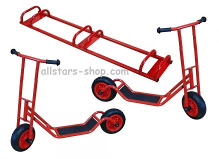 Allstars 2 Roller Cityroller Scooter KiGa-Roller Kindergartenroller E-Vinyl-Räder Maxi + Ständer