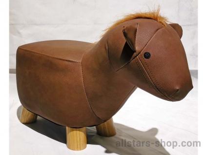 """Allstars Tierhocker """"Pferd"""" Hocker Kinderstuhl Microfaser"""