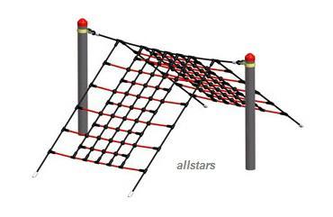 Huck Vario-Systen Element 19 Kletternetz Parcours f. Stahlpfosten Spielplatz