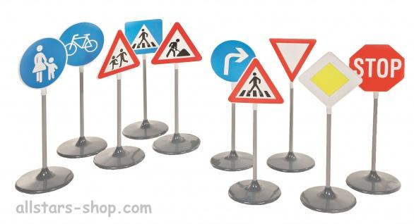 Allstars Verkehrsschilder Set A+B Verkehrszeichen Warnschilder