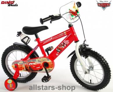 "Allstars Dino Wheels Bikes Jungenfahrrad 14 "" mit Rücktrittbremse + Handbremse Fahrrad rot"