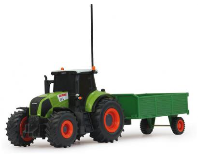 Jamara Claas RC Axion 850 Traktor 1:28 mit Anhänger Landmaschine grün RC-Auto