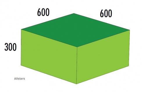 Bänfer Softbaustein Quader Grün 600 x 600 x 300 mm Maxi Schaumstoff-Baustein