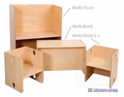 allstars Kindermöbel Möbel KiGa Multimöbel Set Tisch Bank Stühle Kindersitzgruppe