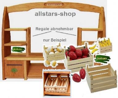 Schöllner Holzspielzeug Tischkaufladen mit 6 Obststeigen Kisten ohne Inhalt - Vorschau 3