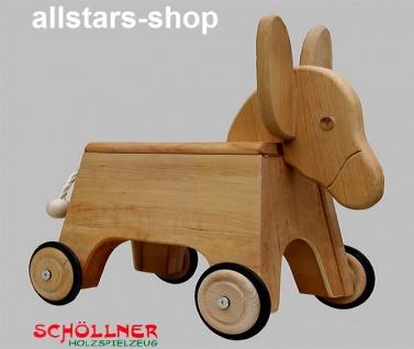 Schöllner Holzspielzeug Rollesel Rutscher Esel aus Erlenholz geölt