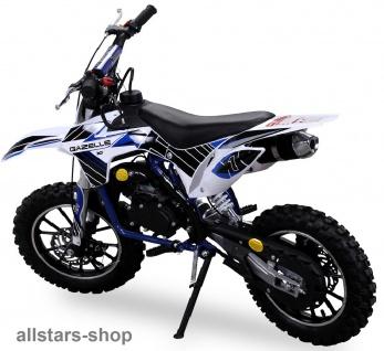 Actionbikes Kindermotorrad Kinder-Crossbike Poketbike Gazelle 49 cc Benzin-Motor blau - Vorschau 2