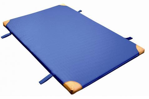 Bänfer Gerät-Turnmatte Standard Lederecken Schlaufen 2 x 1 m Sportmatte Schulturnmatte