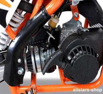 Actionbikes Kindermotorrad Kinder-Crossbike Poketbike Gazelle 49 cc Benzin-Motor orange - Vorschau 5