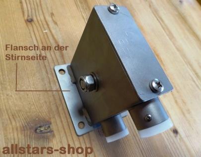 Beckmann Sandaufzug Edelstahl Flansch-Befestigung an Stirnseite Spielplatz-Aufzug
