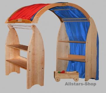 Schöllner Spielhaus geschlossen mit 2 gleiche Verkaufstresen Kaufladen-Ständer + 2 Dachboden Typ 1