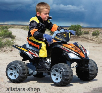 Jamara Kinder-Auto Ride On Quad 12 mit E-Motor Motorrad Kinderquad schwarz